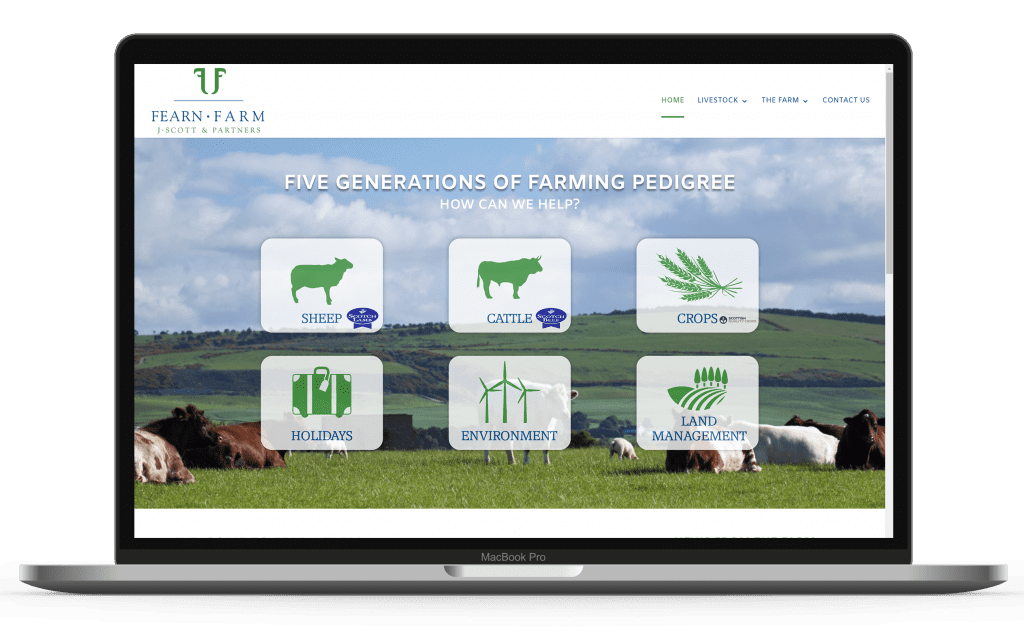 Website designed by hi.create for Inverness business